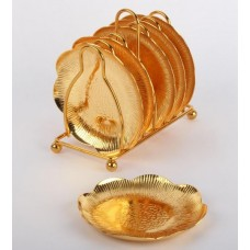 طقم صحون ذهبي باستاند